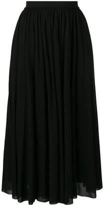 Jil Sander high waisted midi skirt