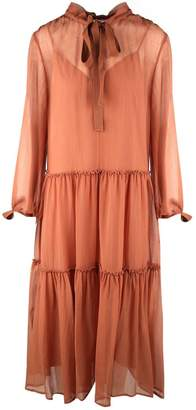 See by Chloe Cotton And Silk-blend Crinkled-voile Dress