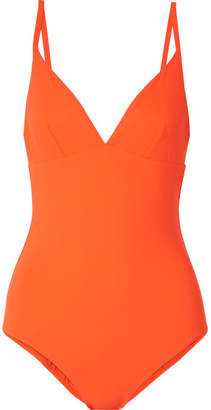 Tory Burch Marina Swimsuit - Bright orange