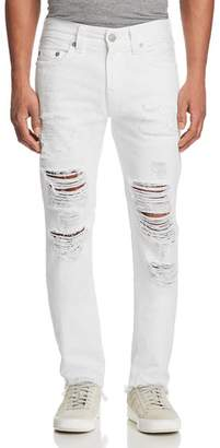 True Religion Rocco Slim Fit Jeans in White Volcanic Ash