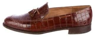 John Lobb Alligator Tassel Loafers