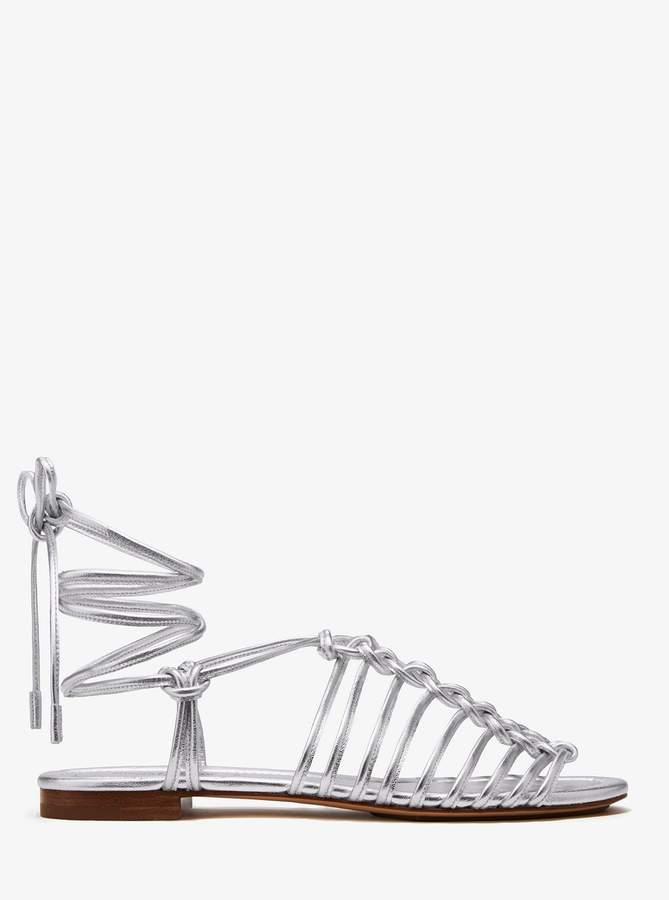 Michael Kors Collection Fagan Metallic Leather Sandal