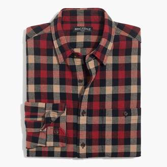 J.Crew Rugged elbow-patch shirt in tri-color gingham