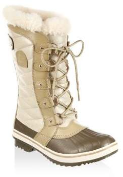 Sorel Tivolli III Faux Fur and Leather Boots