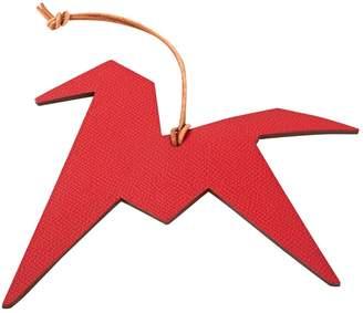 Hermes Petit H leather bag charm