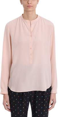 Stella McCartney Mao Collar Pink Silk Blouse