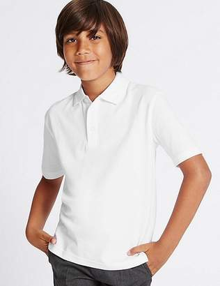 Marks and Spencer 3 Pack Boys' Pure Cotton Polo Shirts