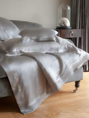 House of Fraser Gingerlily Silver Grey Silk Double Fitted Sheet