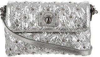 Marc JacobsMarc Jacobs Metallic Studded Embossed Leather Shoulder Bag