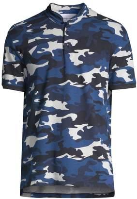 The Kooples Camo Polo Cotton Top