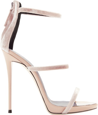 Giuseppe Zanotti Coline Velvet Strappy Sandals $845 thestylecure.com