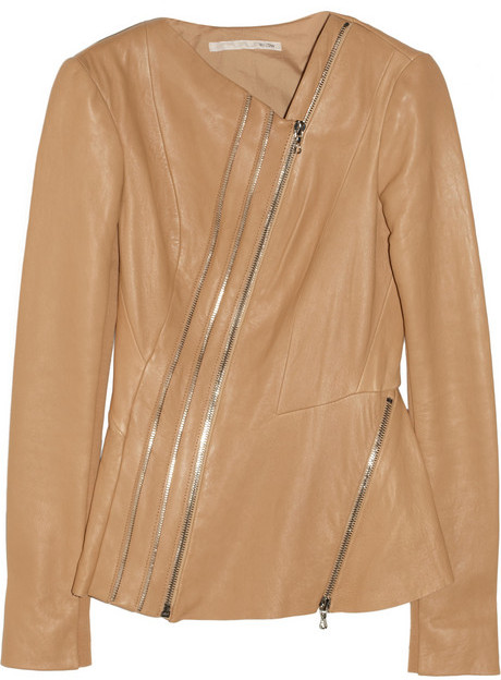Willow Asymmetric leather jacket