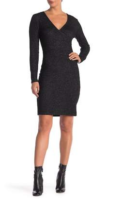 Modern Designer Surplice V-Neck Knit Dress