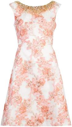 Aidan Mattox embellished floral print dress