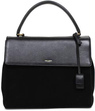 Saint Laurent Classic Sac Satchel Handbag Suede Leather Top-Handle Bag Shoulder Strap 355156