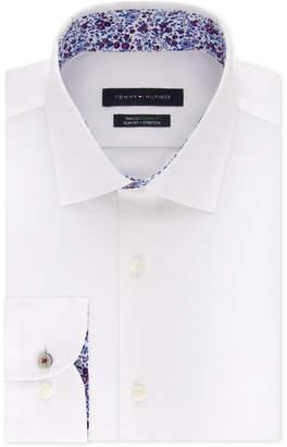 Tommy Hilfiger Men's Slim-Fit Th Flex Non-Iron Supima Stretch Solid Dress Shirt