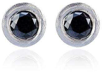 Black Diamond Jelena Behrend 14k Gold Bullet stud earrings