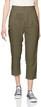 Benetton Women's Linen Chino Trouser,6 (Manufacturer Size:38)