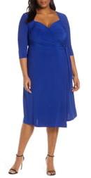 Kiyonna Sweetheart Neck Wrap Dress