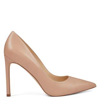 Tatiana Pointy Toe Pumps - Barely Nude Leather