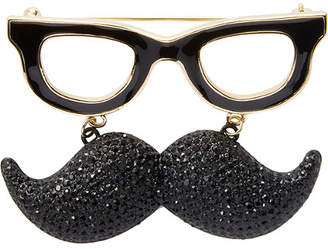 Kate Spade 14K Plated Mustache Brooch