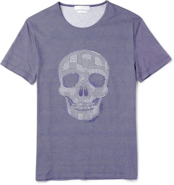 Alexander McQueen Skull Patchwork-Print Cotton-Jersey T-Shirt