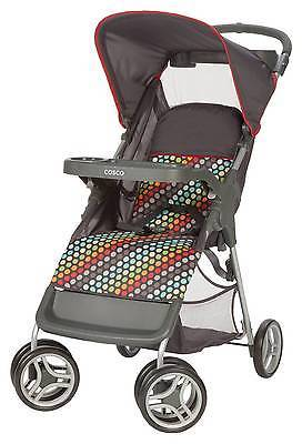Cosco Cosco Lift & Stroll Stroller in Rainbow Dots