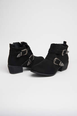 Ardene Western Buckle Ankle Boots