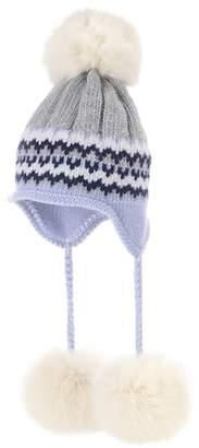 Miu Miu Fur-trimmed knit hat