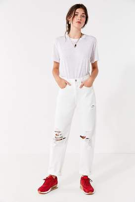 A Gold E AGOLDE '90s Straight-Leg Ripped Jean – White Out