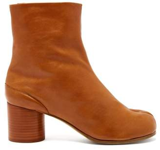 Maison Margiela Tabi Split Toe Leather Ankle Boots - Womens - Tan
