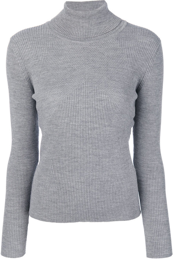 Lorena Antoniazzi ribbed roll neck jumper
