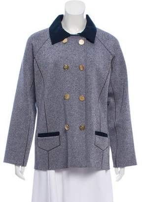 Zac Posen Z Spoke by Collared Textured Jacket