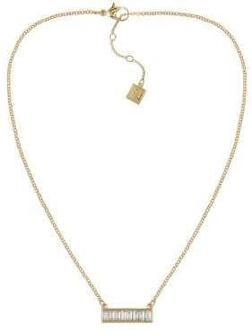 Laundry by Shelli Segal Hollywood & Vine Baguette Bar Necklace