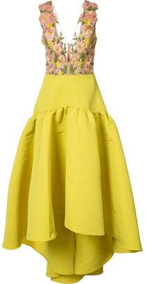 Marchesa Notte floral embroidery & applique dress $1,095 thestylecure.com