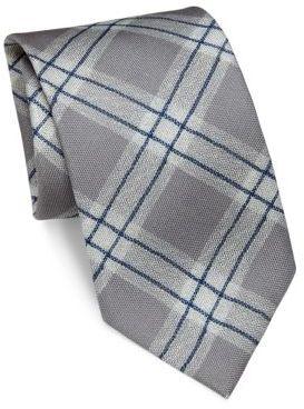 BrioniBrioni Argyle Patterned Silk Tie