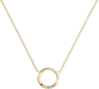 Chicco Zoe Rainbow Sapphires Thick Circle Necklace