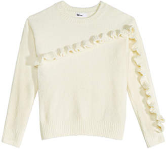 Epic Threads Big Girls Ruffle-Trim Chenille Sweater, Created for Macy's
