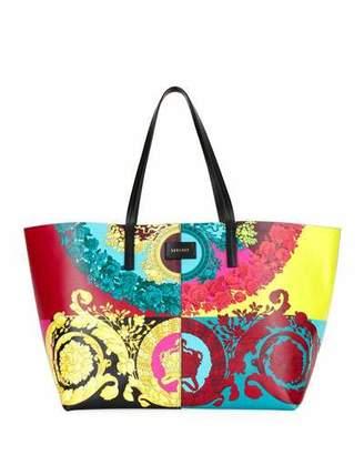 Versace Voyage Barocco Leather Tote Bag