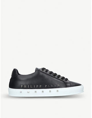 Philipp Plein The First stud-embellished leather trainers