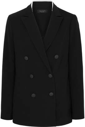 Rag & Bone Ryan Double-breasted Crepe Blazer - Black