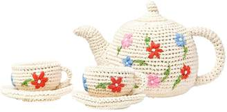 Anne Claire Hand-Crocheted Organic Cotton Tea Set