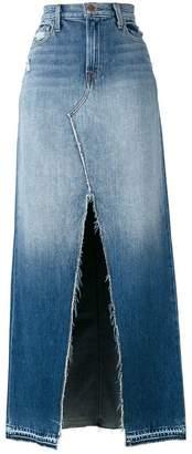 J Brand front slit denim skirt