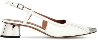 Marni 40mm Racing Stripe Leather Pumps