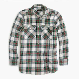 J.Crew Petite boyfriend shirt in stewart plaid