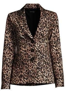 Nanette Lepore Bon Voyage Leopard Print Blazer