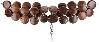Saint Laurent Pre-Owned 1970's wooden necklace belt