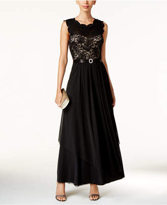R & M Richards Sequined Lace Chiffon Gown $119 thestylecure.com
