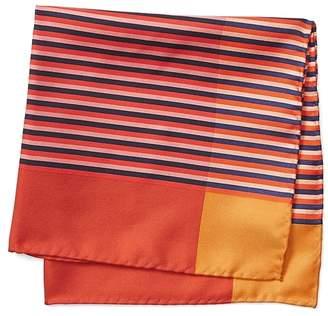 Banana Republic Vintage Stripe Silk Pocket Square