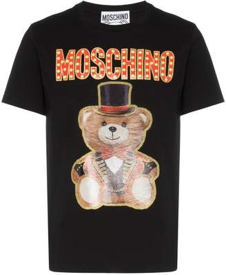 Moschino cotton logo ringmaster bear T-shirt